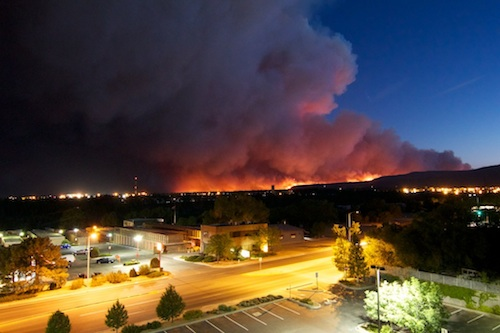 Las Conchas Fire, viewed from Los Alamos National Bank